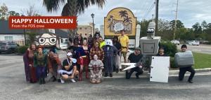 Halloween team photo